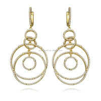 Wholesale Fashion Jewelry 18K gold CZ Earring for Women