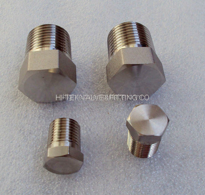 Stainless steel high pressure solid thread plug view pipe
