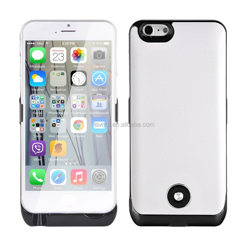 Multicolor 3800Mah external power bank battery phone case for apple iPhone 6