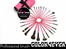 Wholesale!Popular professional30pcs pink makeup brushes with PU bag mini cosmetic brushes