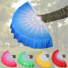 50 unids degradado de color chino kungfu fan danza de los abanicos de seda dhl freeshipping