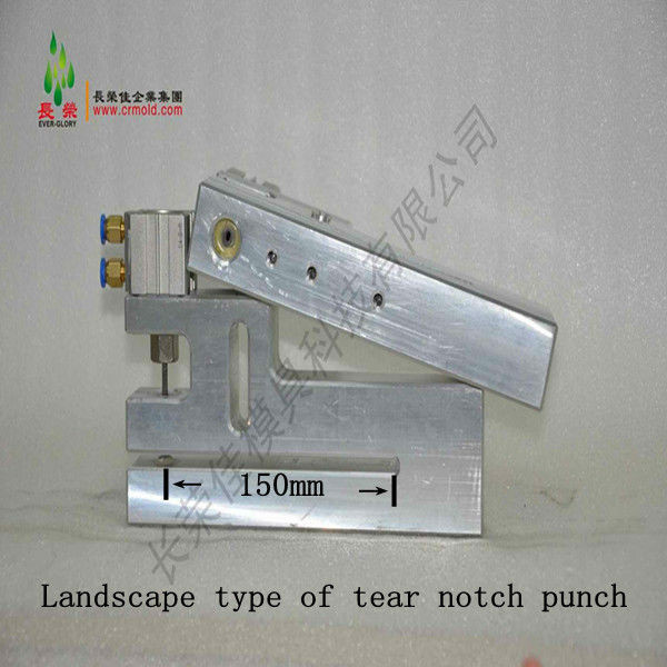 V Shaped 2*4mm Tear Notch Hole Punch Machine with Cross Direction