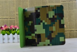 2015 Camouflage Leather Stand Tablet Case with solar panel for ipad air 2