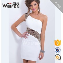 Sequin Sex Ladies Simple body dress One Shoulder Fashion Smart Casual cocktail Dress
