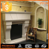 classical white household csa fireplace
