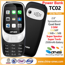 Wholesale Cellphone power bank 3SIM Basic Feature Phone