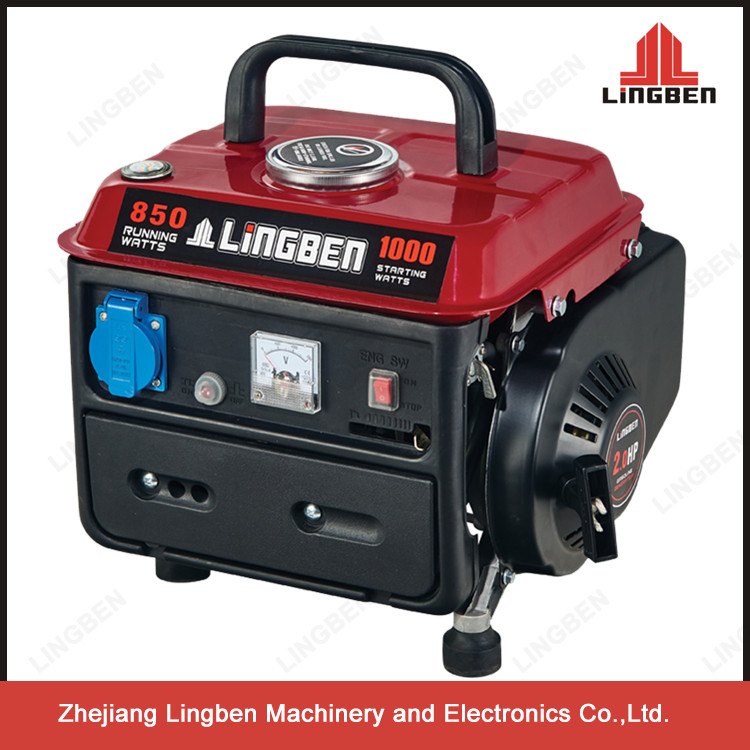 Lingben Recoil Start Hot Sale 800w 950 DC Small Gasoline Generator For Home Use LB950-C