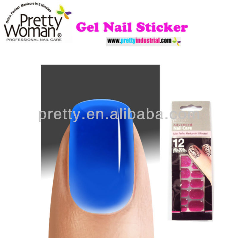 Latest Design Gel Nail Polish Sticker Nail Beauty Products European Deep Blue Gel Nail Art for Sale
