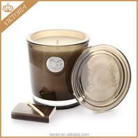 Natural Luxury Glass Jar Candle Bougie