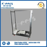 Folding Chair Trolley/Dollies for Moving Furniture/Metal Trolley Cart
