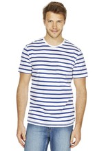 Newest Hot Selling Charming blue Striped recycled polyester t-shirt