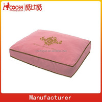 cosy pink Velvet wholesale dog beds for large dogs