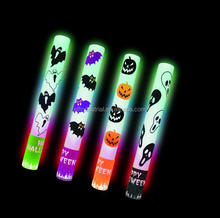Wholesale lightup toys Custom Led flash Foam Glow Sticks Halloween 10 inch led light up foam stick with print