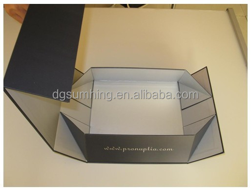 foldable magnet closure paper packaging gift box foldable