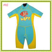 bright color neoprene shorty diving suits