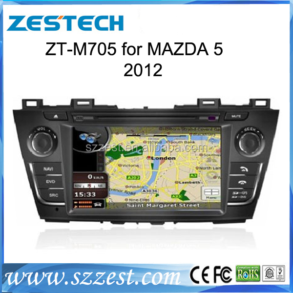 ZESTECH brand new OEM Audio car for Mazda 5 2012 Car stereo China with SIM car with gps bluetooth TV tuner