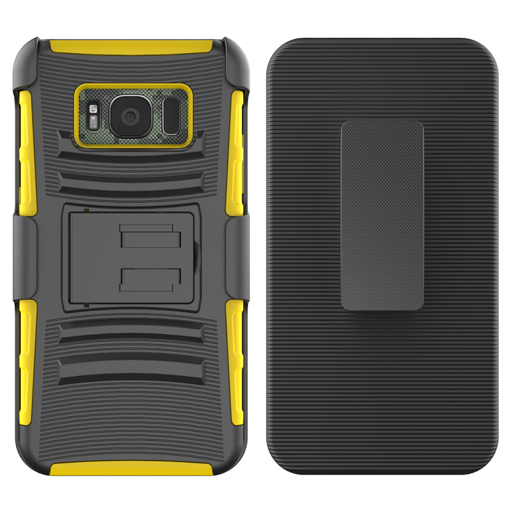 Colorful mobile phone case three in one combo for Samsung Galaxy S8 Active case