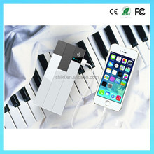 Super fast charger 13000mah portable mobile power bank in piano shape,portable powerbank,portable charger
