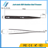 BST-EDS-12 Anti-static ESD Stainless Steel Tweezers