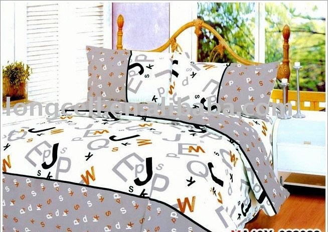 3pc cotton fabricbaby cot sheet sets printed cute bedding set