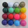 Bulk 16 different colored mini golf Balls promotional golf ball