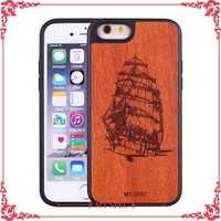 mobile phone wooden housing shell with printed case for iphone 6
