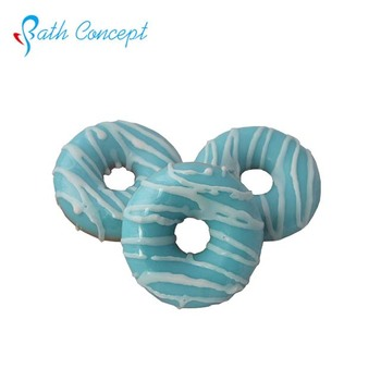 Ocean Wave round doughnut fresh fruit scent bath soap toys inside