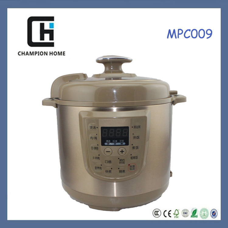 2015 Newest stainless steel electric pressure cooker (4L/5L/6L, Non-stick inner pot) Made in China
