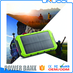 Rain-Resistant Dust-Proof and Shockproof Solar Charger 10000mAh dual usb 5 volt Solar Power Bank