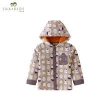 SAMBEDE 1-5T Infants&Toddlers Baby Clothing Baby Hooded Coat Outwear 100% Cotton Frabic for Winter SM6D5646