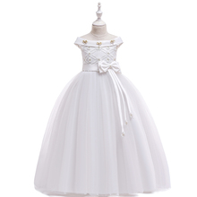 New Arrival Beautiful Kids Clothing <strong>Girl's</strong> Princess Long Wedding <strong>Dress</strong> LP-232