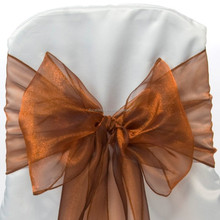 chair bow organza sashes for wedding chair cover at factory price