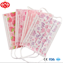 colorful 3 ply non woven fabric medical surgical face mask /protective disposable dental ear-loop face mask design wholesale
