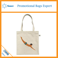 foldable standard size cotton tote bag for shopping