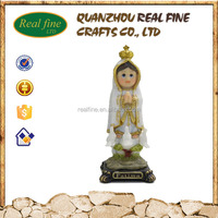 Resin Baby Fatima Sculpture, Resin Madonna Statue for Christmas