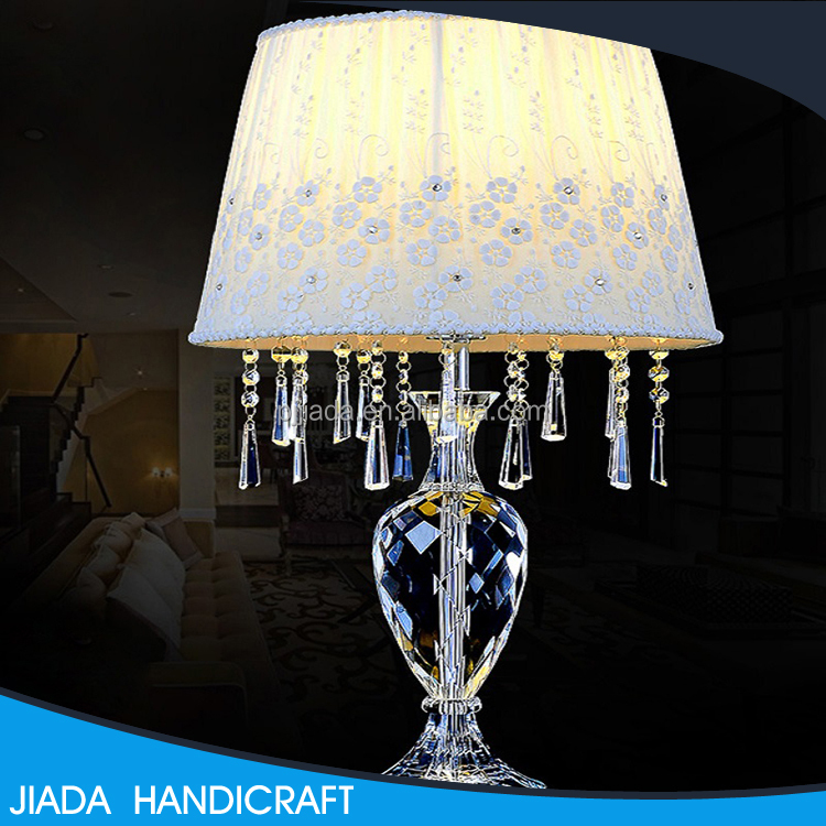 Top selling custom design home goods mini crystal chandelier table lamps
