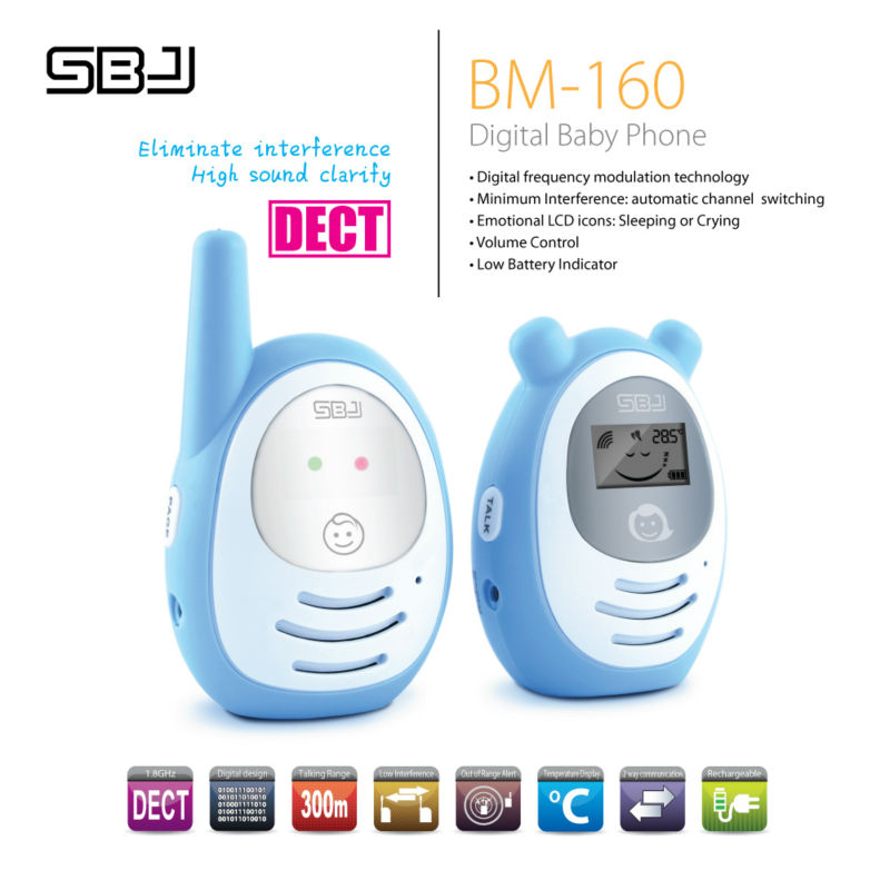 digital dect phone kids radio baby monitor with sleeping crying sense vox baby monitor