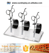 hair salon scissors display stand acrylic nail scissor manicure scissors display case
