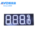 IP65 White 5 Digits 7 Segment LED Display Wireless Gas Station LED Price Sign