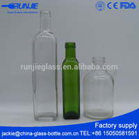 Fast delivery Many Capacities hair oil glass bottle