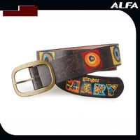 Leather Embroidery Belt