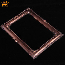 China manufacturing gold square bulk plastic frames decorative plastic mirror frames small plastic craft frame