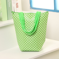 Hot sale dots printed nonwoven cooler bag with tote