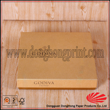 Foiled & embossed logo chocolate boxes box inserts/rigid cardboard packaging box for chocolate