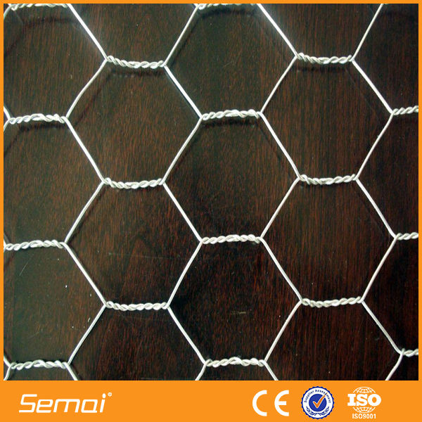 16 gauge galvanized hexagonal wire mesh netting