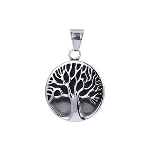 33497 xuping jewelry Newest Engravable hollow round fashion stainless steel pendant