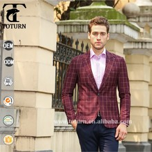 new 2016 High Quality stylish hot fancy wholesale price for small business oem factory mens formal stripe plaid italian blazer