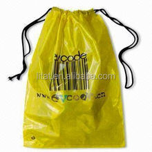custom made wholesale plastic small drawstring bags