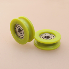 pulley wheels plastic/PU/POM/nylon flange ball bearing for sliding door roller wheels hardware