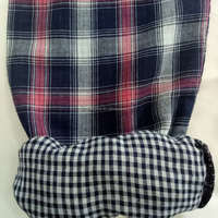 New style cotton double layer check shirting fabric textile